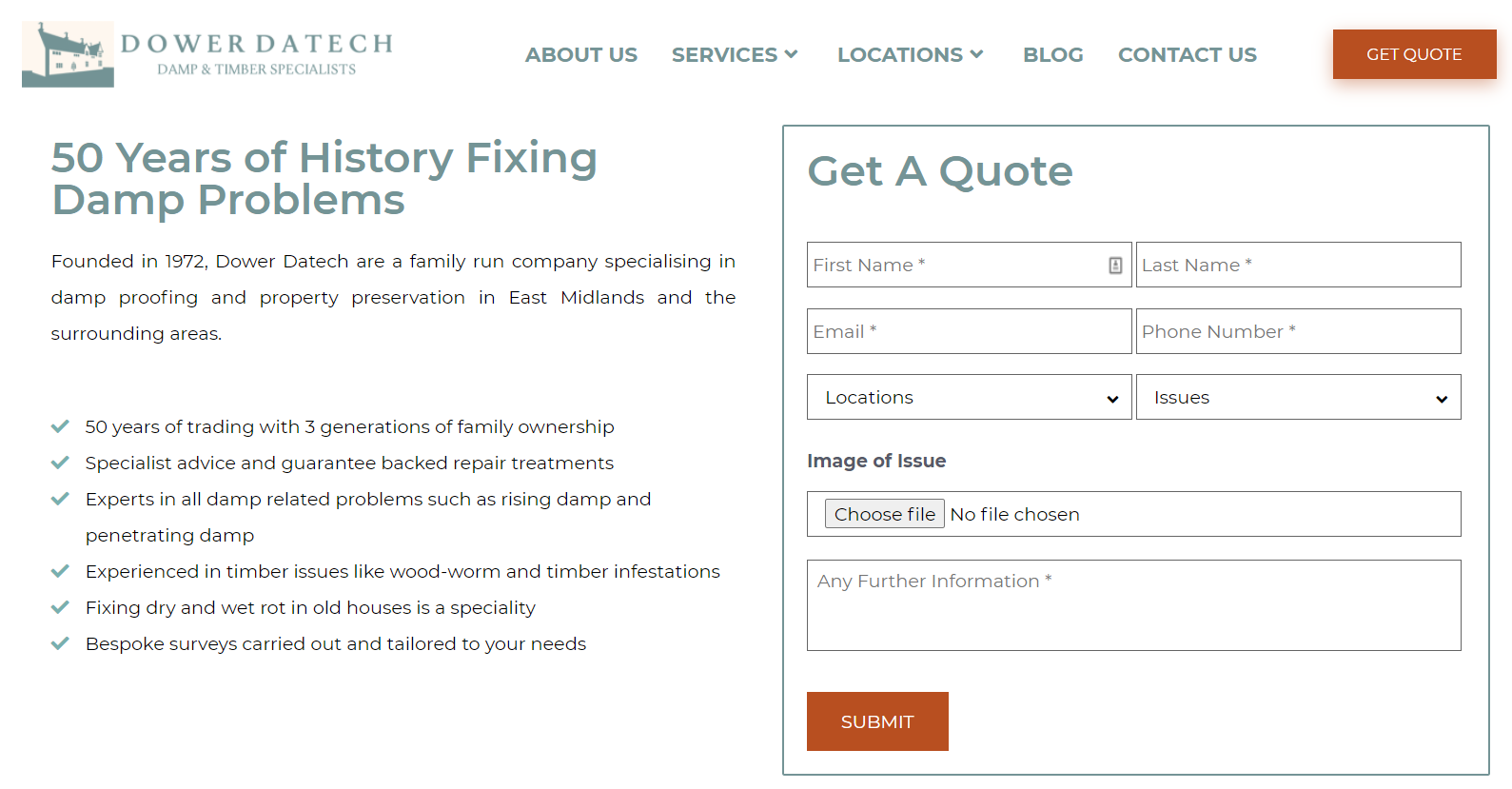 DowerDatech good formatting page example